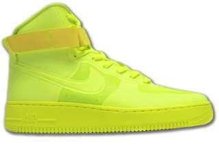 Nike Air Force 107 HI Hyperfuse Premium Neongelb Neu Schuhe Größen