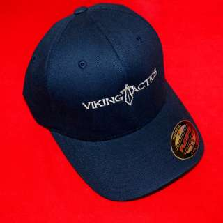 VTAC Viking Tactics Standard Logo Flex Fit Cap Hat In Color NAVY BLUE