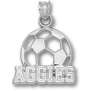 Texas A&M University Aggies Soccerball Pendant (Silver
