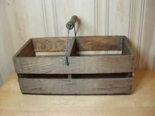 Wooden Milk Delivery Bole Carrier wih Wood Bail Handle Nice |