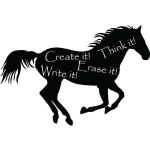 Chalkboard Horse  Large  Vinyl Wall Decal