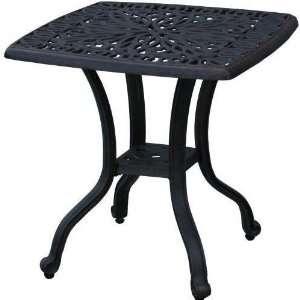 Darlee Elisabeth Cast Aluminum Outdoor Patio End Table