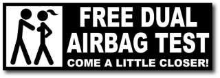 Free Dual Airbag Test Funny Sticker Decal JDM Civic CRX