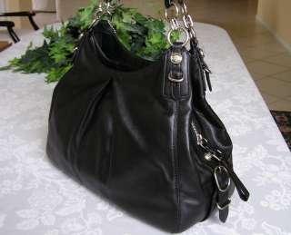 NEW COACH MIA LARGE LEATHER MAGGIE BAG PURSE BLACK 15741 NWT