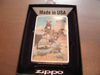 COLT PISTOLS THE ARM OF LAW AND ORDER COWBOY ZIPPO LIGHTER MINT IN BOX