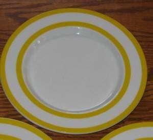 Mikasa Tangent Yellow Bob Van Allen 3 Salad Plate LOT