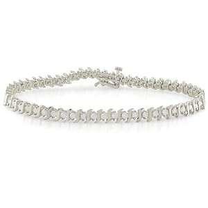14k White Gold 2ct TDW Diamond Tennis Bracelet Jewelry