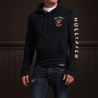 Hollister Men Navy Blue Malaga Beach Sweatshirt hoodie