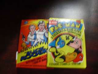 Lot of 2 Vintage Card Wrappers Buck Rogers and Pac Man