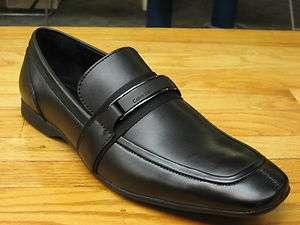 Mens Calvin Klein Black Leather Dress Loafer Shane F0085 BLK