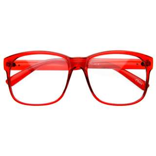 Trendy Nerd Large Fashion Square Basic Reading Clear Lens Glasses