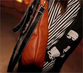 New PU Leather Ladys Shoulder Bag Tote Removable Straps Bag Free