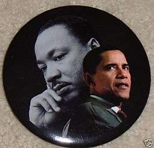 Barack OBAMA pin + Dr. Martin Luther KING JR.
