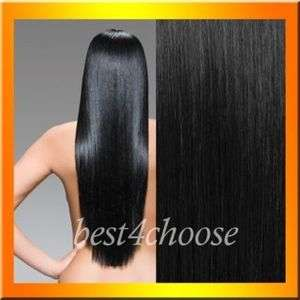 High Quality~18 8pcs 90g Clip In Remy Human Hair Extensions,#1