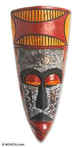 AKAN MASK~Carved Wood African Sculpture~NOVICA Art