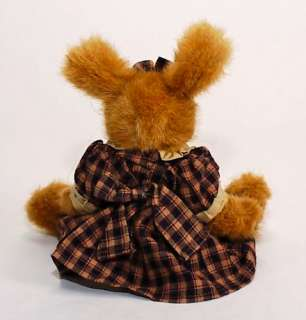Boyds Bears Sweet Easter Bunny Rabbit in Plaid Dress