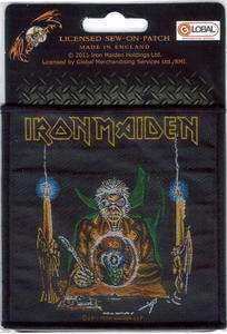 IRON MAIDEN EDDIE CRYSTAL BALL SEW ON WOVEN PATCH NEW