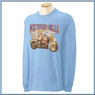 Southern Belle Motorcycle Long Sleeve Shirt S 3X,4X,5X