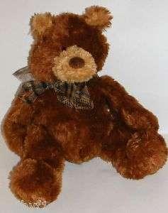 14 Gund Brown GOLDRUSH Teddy Bear Plaid Bow #15276