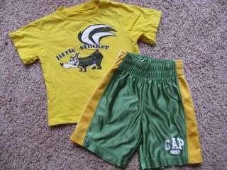HUGE 54 pc Lot BOYS SUMMER Clothes SHORTS SHIRTS 3t 3 graphic tees GAP