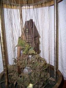 Vintage Grist Mill Water Wheel Oil Rain Motion Lamp