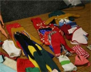 VINTAGE BARBIE & KEN DOLLS + TRAVEL CASES & VINTAGE CLOTHES