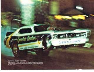 NHRA AHRA Drag Racing Plymouth Quarter Duster Funny car Fred Bickford