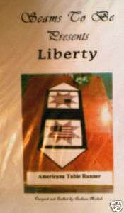 Vintage Quilting Pattern Americana Table Runner Liberty