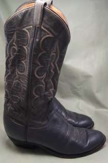 Tony Lama Vintage 1982 Gray Leather 8 D Mens Western Boots