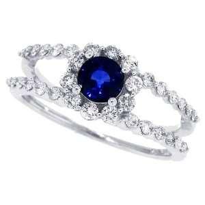 Ring mit Diamanten, 0,57 ct, in 14 kt Weißgold 52  Schmuck
