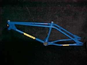 Blue 1979 TORKER MX FRAME Old School BMX Twin Top Tube L.P. Eddie King