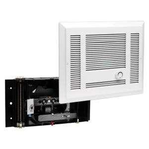 in. x 12 7/8 in. 1,500 Watt 120 Volt Electric In Wall Fan Heater White