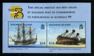 Solomon Islands 873 MNH Australia 1999. HMS Endeavour Los Reyes Ship