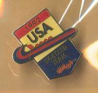 1992 Winter Olympics Sponsor Pin Kelloggs Bobsled Team