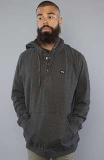 LRG Core Collecion he Core Collecion Hooded Henley in Black Heaher
