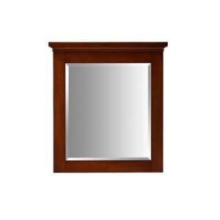 Birch Framed Wall Mirror in Mahogany PEG MANM 30BN