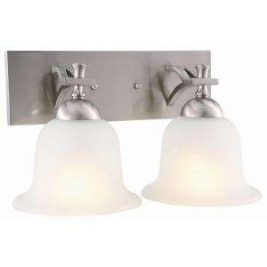 Design House Ironwood 2 Light Satin Nickel Wall Sconce 515635 at The
