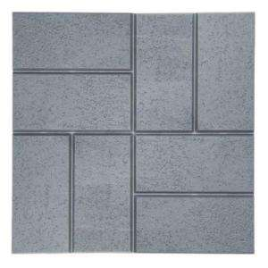 Emsco Brick Pattern Resin Patio Pavers, Plastic and Lightweight, Grey
