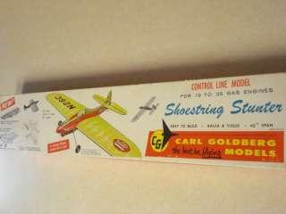 CARL GOLDBERG * SHOESTRING STUNTER * C/L MODEL AIRPLANE KIT**