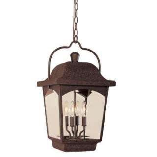 ImportsAyrs Outdoor Collection Bronze 12 In. 4 Light Hanging Lantern
