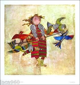 Graciela Rodo BOULANGER Bird Vendor Lithograph Art