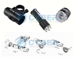 Waterproof LED Bike Bicycle Head Light+Rear Flashlight