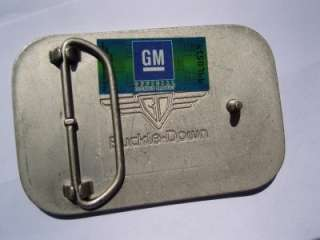 Official Chevy Corvette Logo Belt Buckle Wood Grain