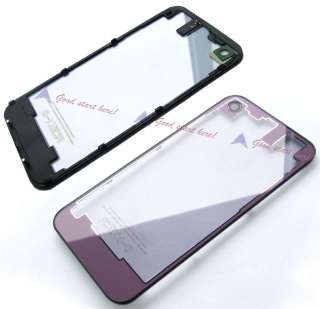 New Clear Glass Back Battery Door Cover Case Housing for iPhone 4S 4GS
