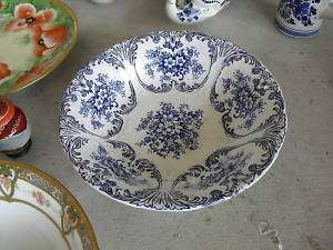 Vintage Meissen Germany Blue Print Fruit Bowl LOOK