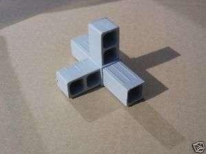 Verbinder für Vierkantrohr   T Stück und 1 Abg. Alu 25