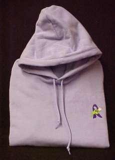 Fibromyalgia Awareness Purple Ribbon Rose Lilac Unisex Hoodie
