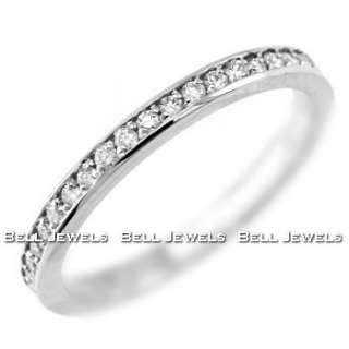BEAUTIFUL DIAMOND WEDDING BAND RING 14K WHITE GOLD