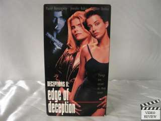 Deceptions 2: Edge of Deception VHS Mariel Hemingway 085365106734