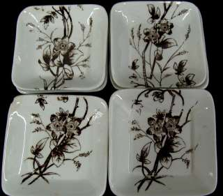 Set 10 Aesthetic Transferware Staffordshire Butter Pats